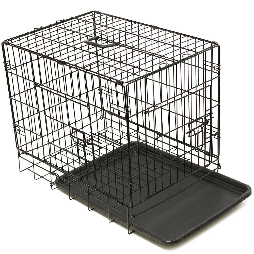 "30"" Crate Wire Cage With Pan and Divider"