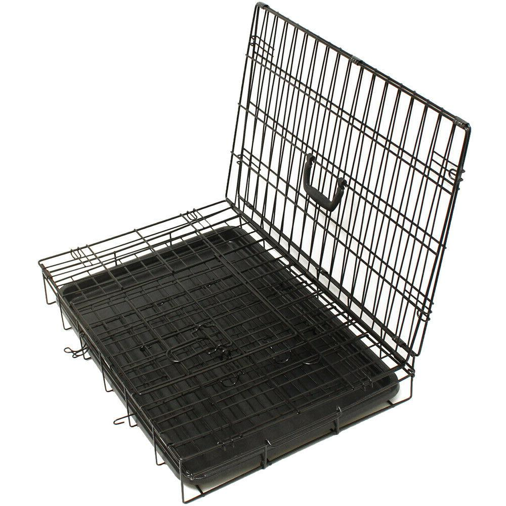 "30"" Dog Crate Wire Kennel With Divider"
