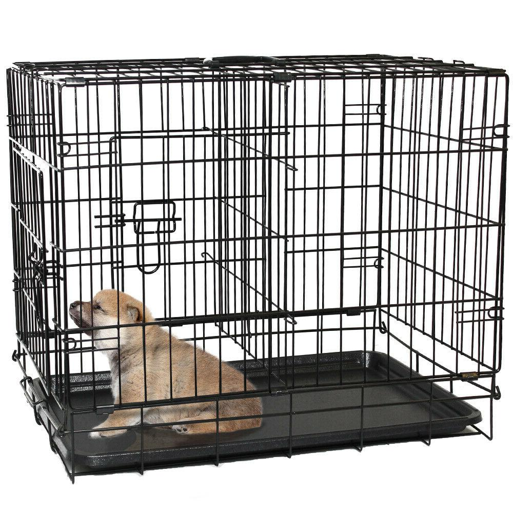 "30"" Dog Crate Wire Metal Kennel With and Divider"