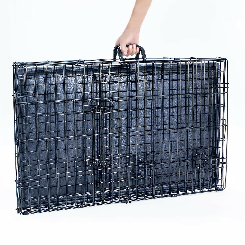 "36"" Folding Metal Black Pet Plastic Tray"