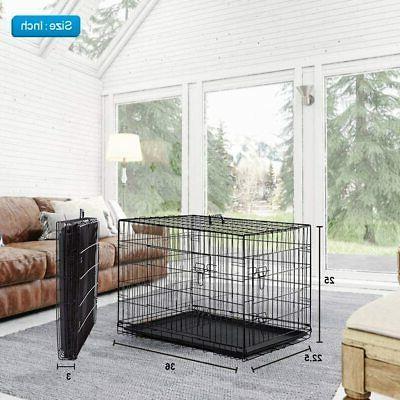 """36"""" Crate Door Tray/1 Metal Kennel House"""