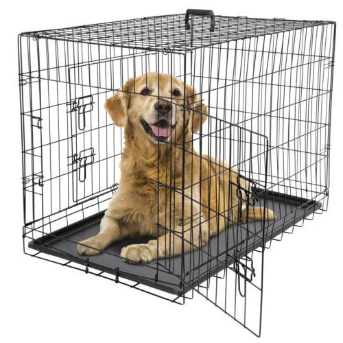 36 dog crate kennel folding metal pet