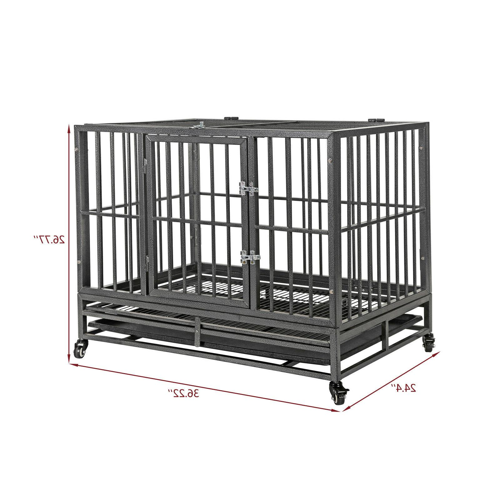 """36""""Portable Heavy Cage Crate Kennel Pet Playpen 2"""