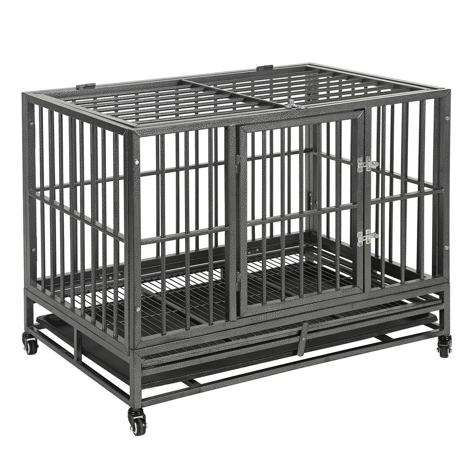 "36""Portable Heavy Duty Cage Pet Playpen Tray 2"