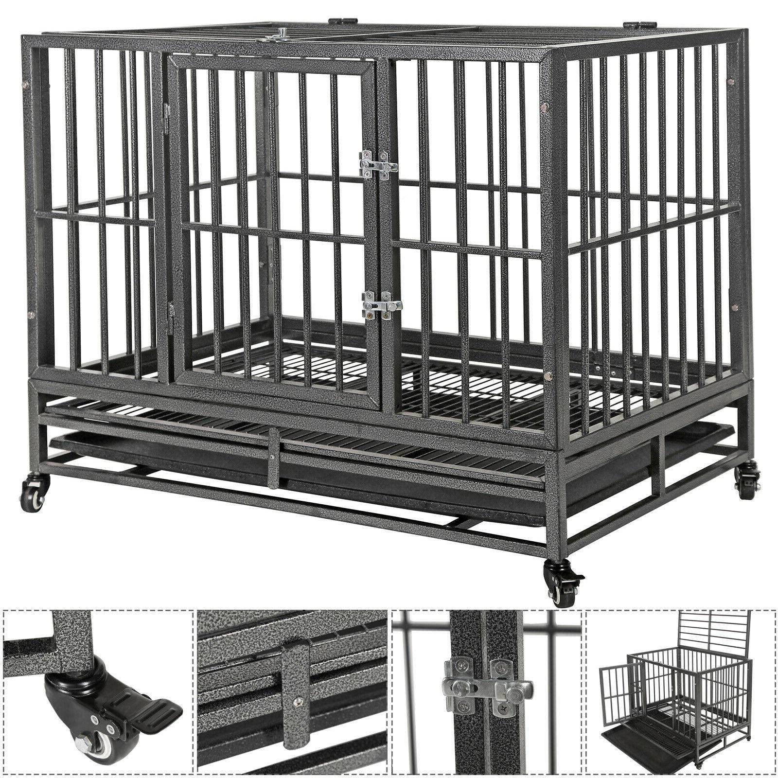 36 portable heavy duty dog cage crate