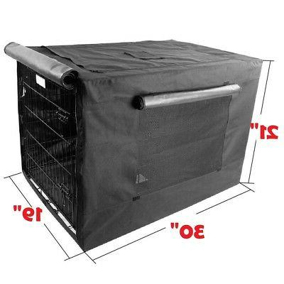 600D Crate Cage Kennel w/ Fold-able windows 19W