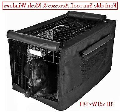 600d dog crate pet cage kennel cover