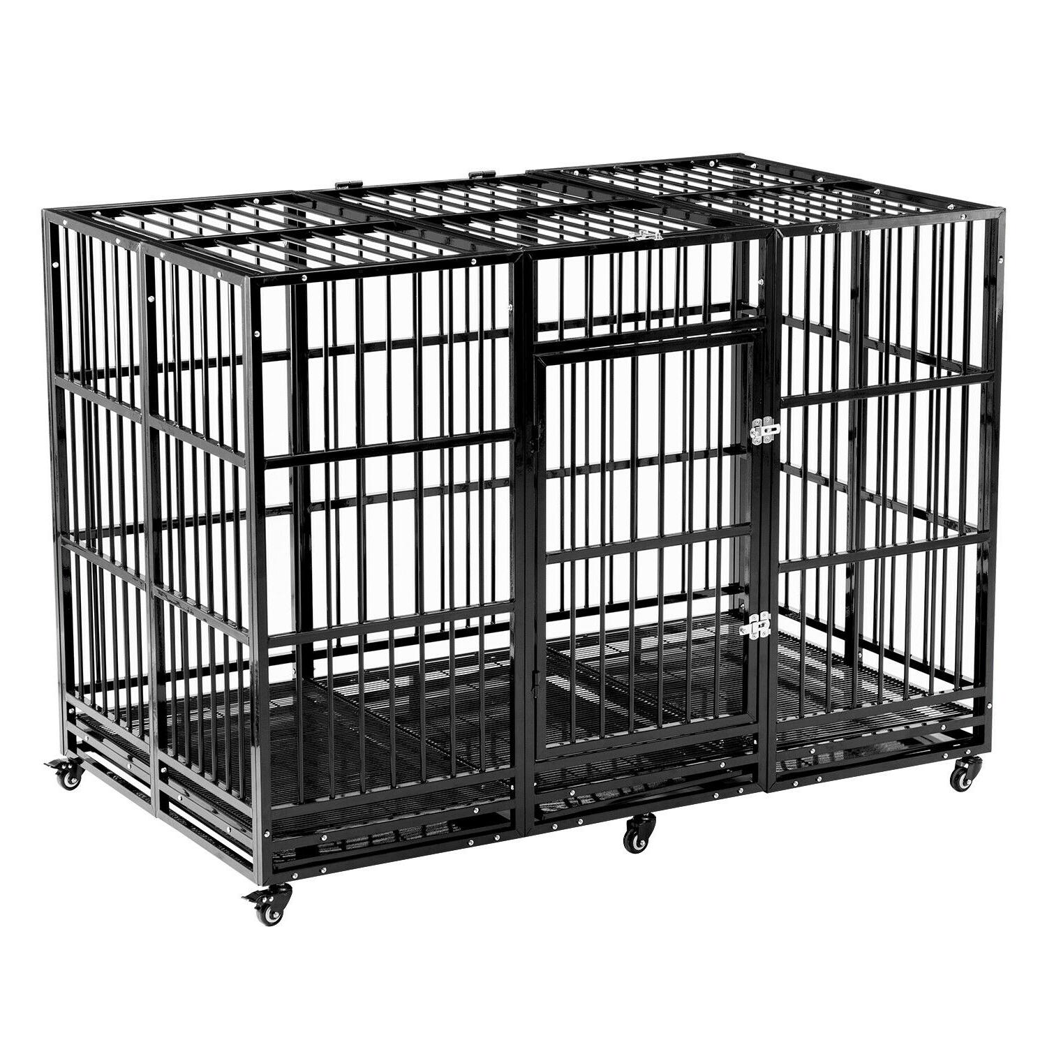 63'' Dog Crate Large Square Heavy Duty & Tray