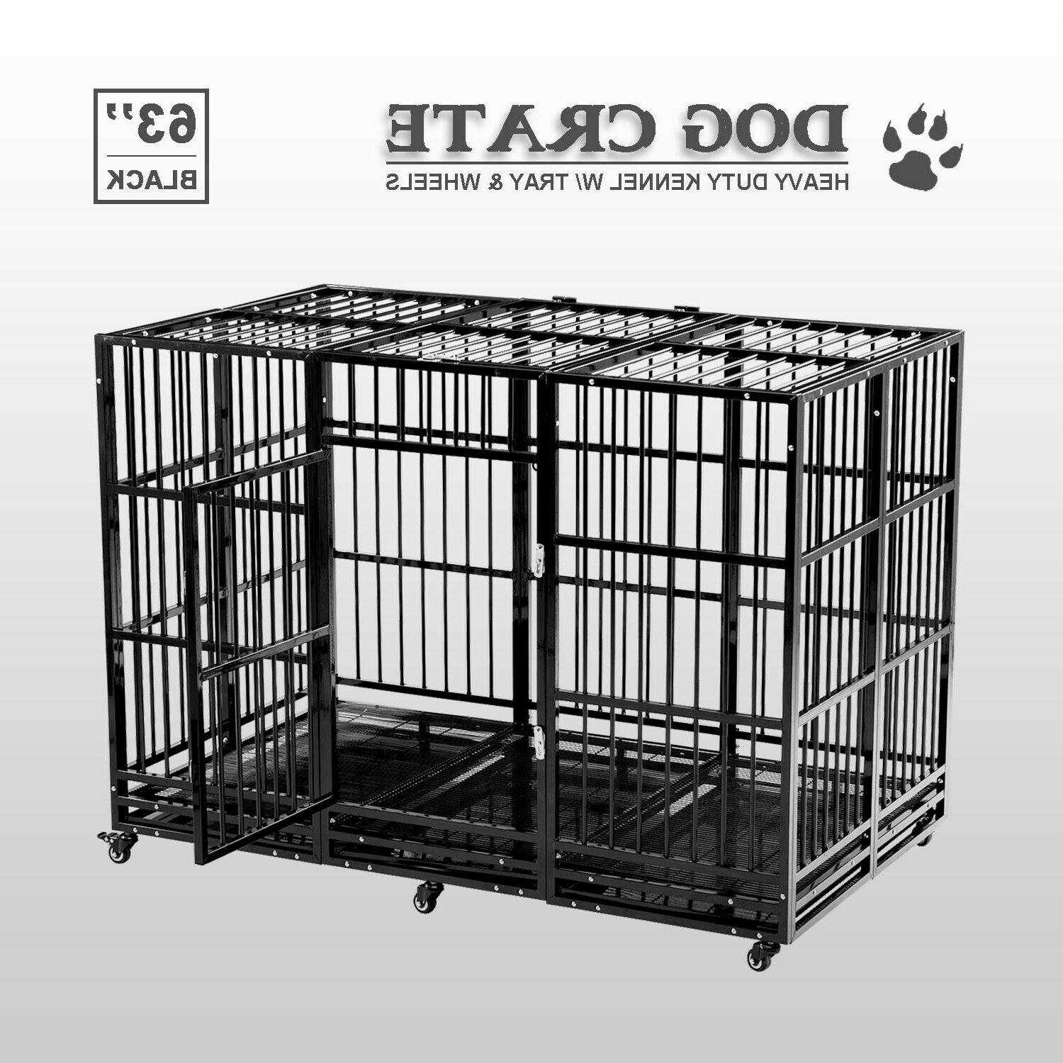 63 dog crate cage large square tube