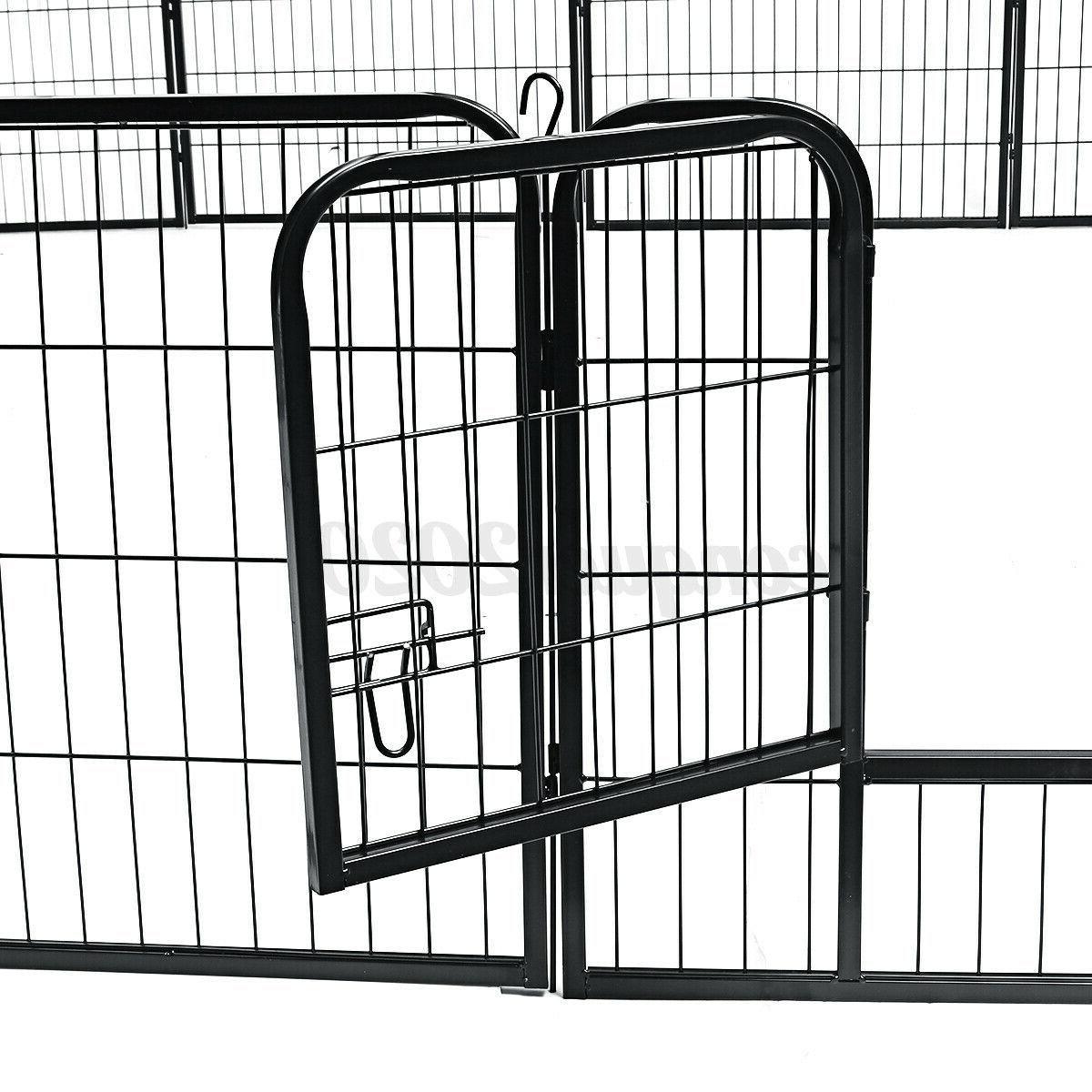 8 Heavy Metal Crate Pet Dog Exercise Fence Kennel