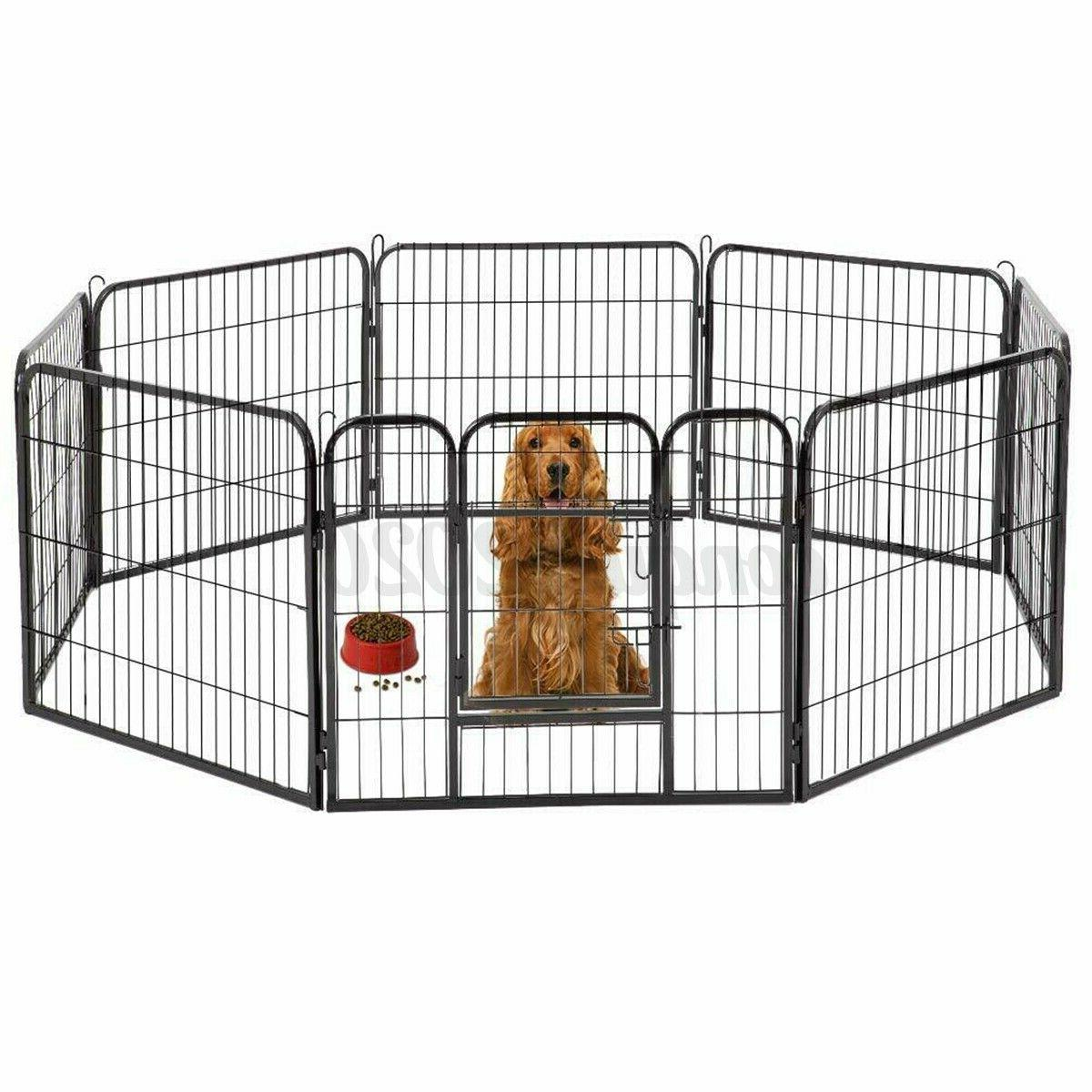 8 Metal Cage Pet Dog Kennel
