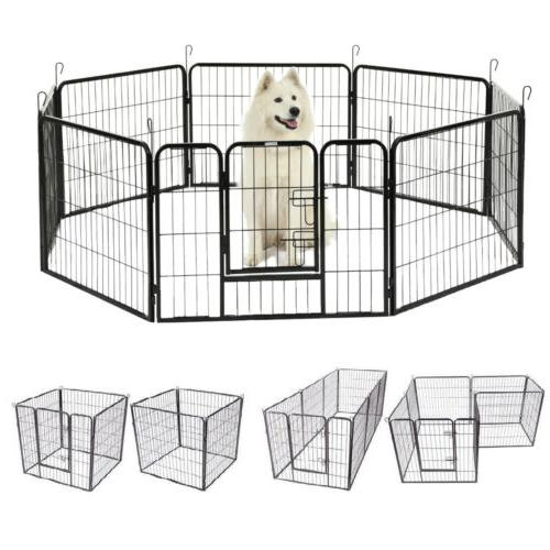 8 panel heavy duty metal cage crate
