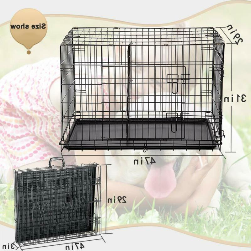 """BestPet 48"""" Door Pet Dog Cage Kennel w/"""