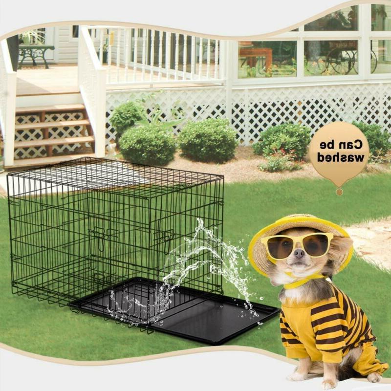 """BestPet 48"""" Door Folding Dog Cat Crate Cage Kennel"""