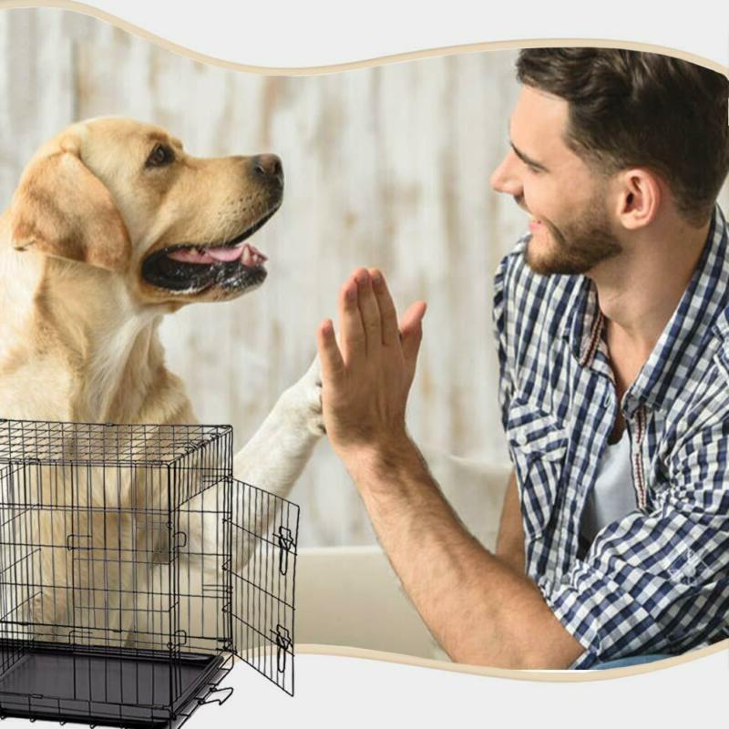 BestPet Black Door Pet Dog w/Divider Cat Cage Kennel w/