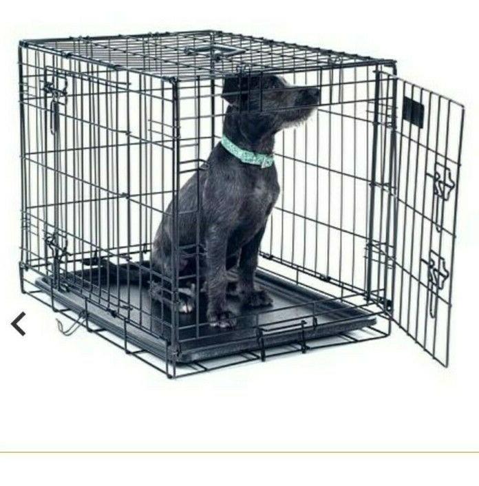 collapsible dog crate medium