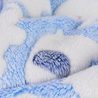Laamei Dog Blanket, 3 Pack Fleece Bed, Cute Pet Crate Couch Throw Cover