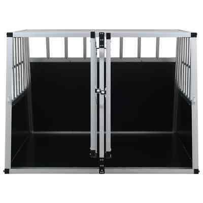 vidaXL Aluminum Dog Cage Animal Carrier
