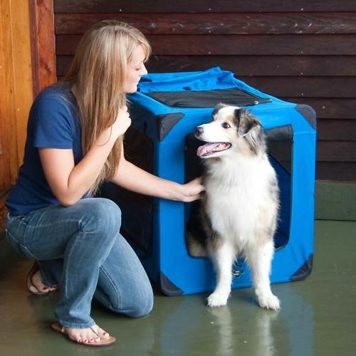 Pet Gear Dog Cat Soft Portable Crate All Fold