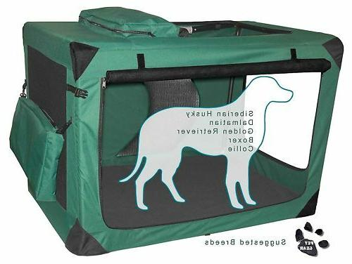 dog cat soft portable travel crate all