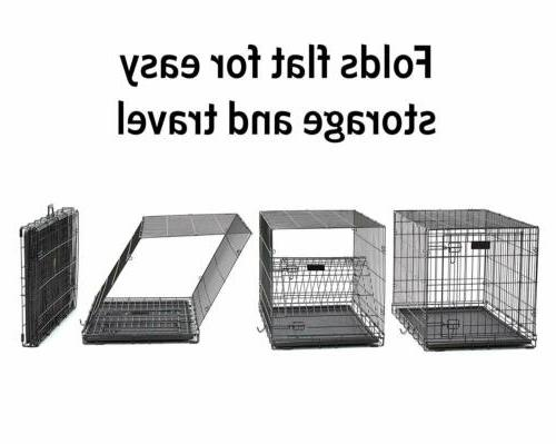 MidWest Homes Dog Crate | Single Door Folding
