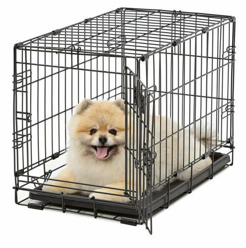 dog crate icrate single door folding metal