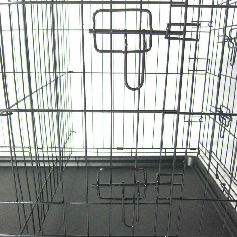 Dog Metal Pet Cage 2 Door Pan 42