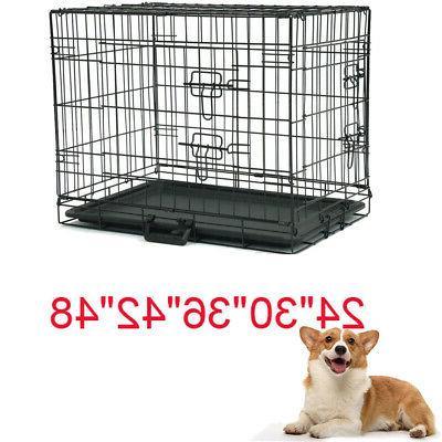 20 48 dog crate kennel folding metal