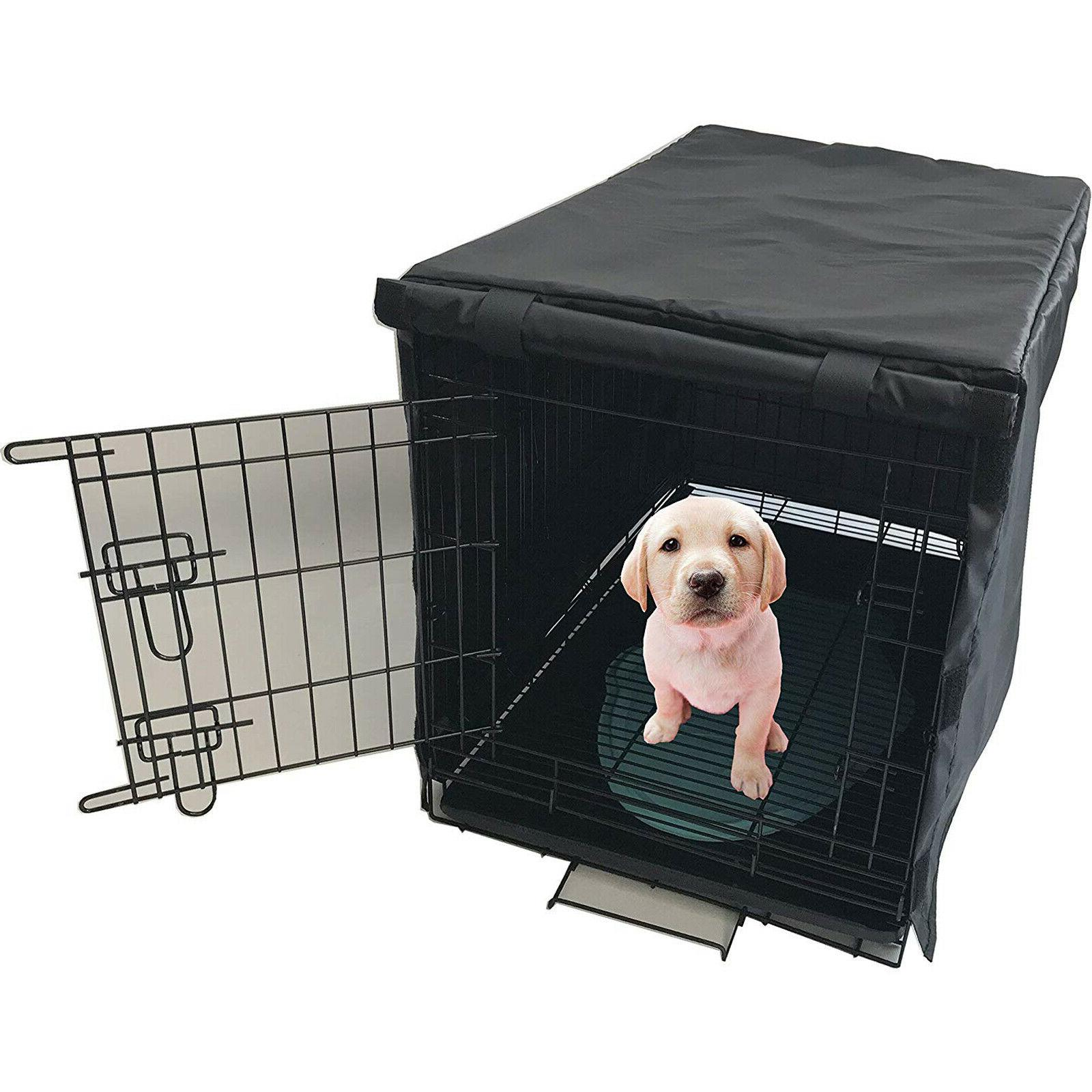 Dog Crate Pet Kennel COVER Black Time