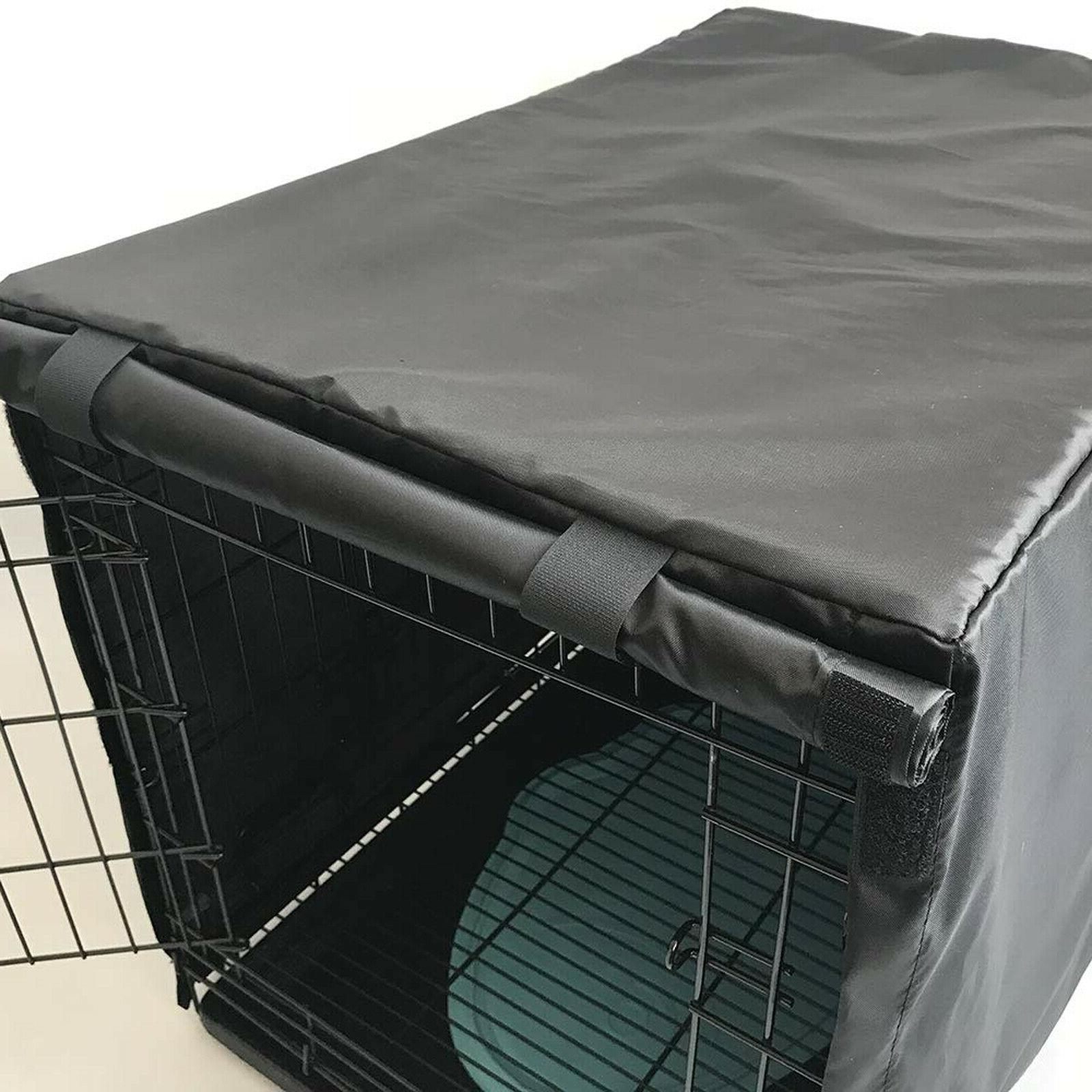 """Dog Cage Kennel COVER Black Quiet Time 48""""/42""""/36""""/24""""/"""