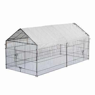 "Outdoor 87"" Kennel Pet Enclosure Playpen w/Cover"