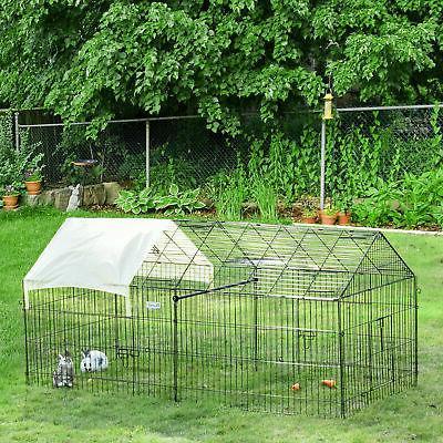 "Outdoor 87"" Large Dog Kennel Crate Pet Enclosure Playpen Run"