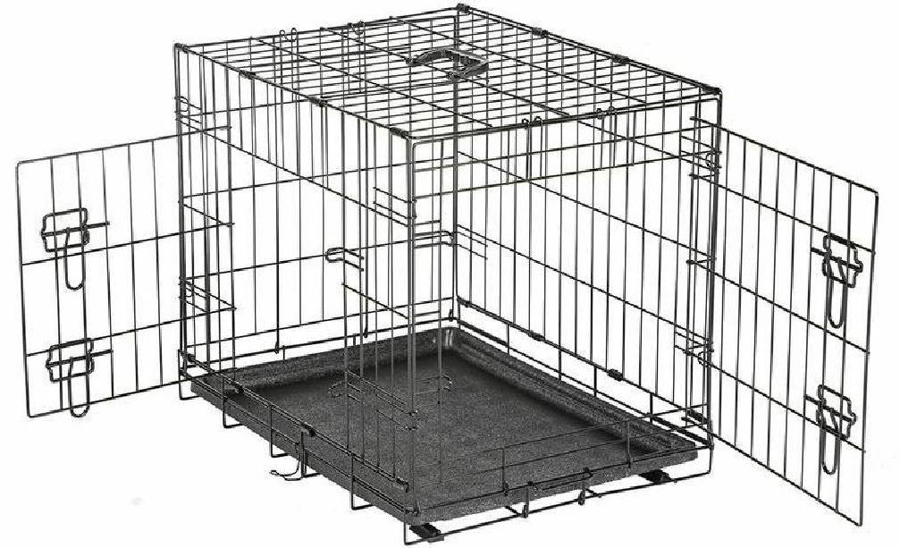 Small Dog Travel Training Wire Crate Collapsible Dual Door K