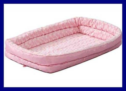 Double Bolster Bed For Crates PINK