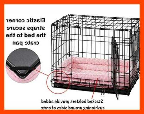 Double Pet Bed For Metal Dog PINK Plush
