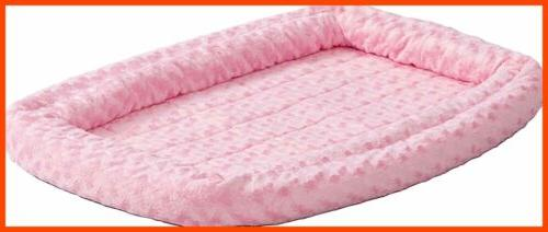 Double Bolster Pet For Dog PINK Plush