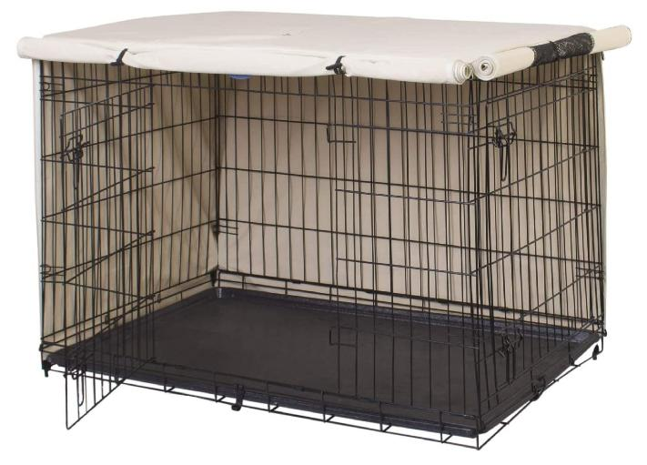 Double Dog Cover Kennel Wire Dog Crate