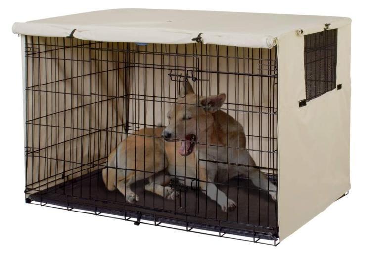 double door dog crate cover kennel 24