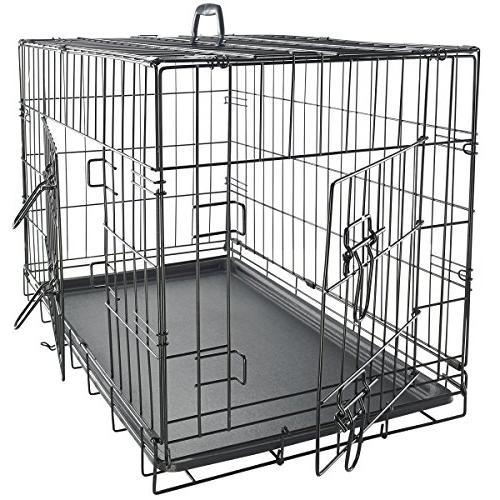 OxGord Double-Door Easy Folding Metal Pet Kennel Rabbits