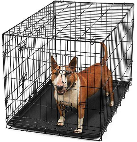 OxGord Double-Door Easy Metal Crate for Rabbits