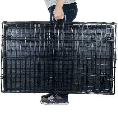 "Petmaker Double-Door Folding Crate Cage, Large, 42""L"