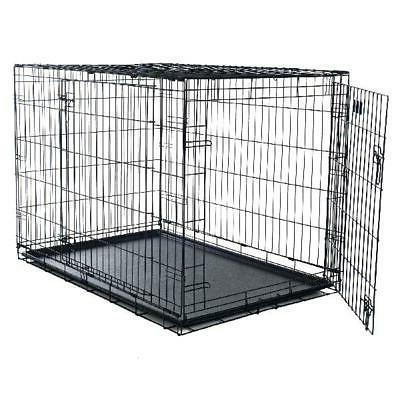 Petmaker Double-Door Folding Crate Cage,