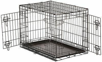 AmazonBasics Double-Door Dog Crate - Inches