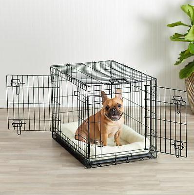 AmazonBasics Folding Metal Dog Crate - Inches