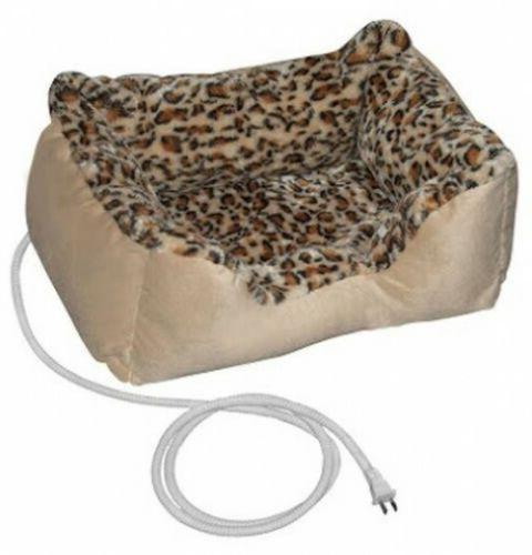 electric heated pet bed for small dog