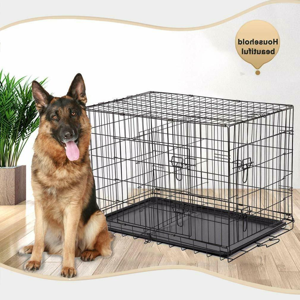 "Extra Kennel Crate 48"" Folding Cage Tray XXL"