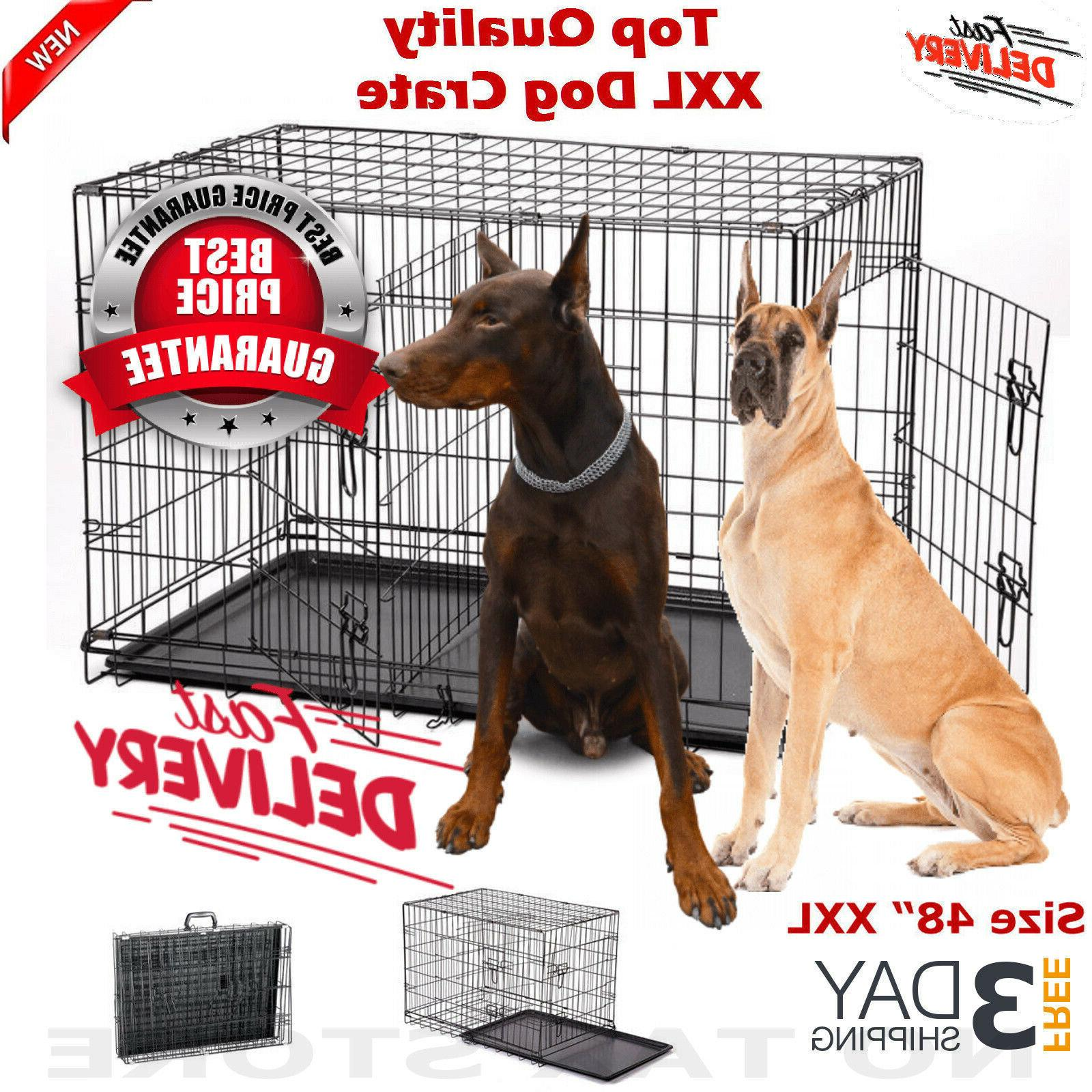 extra large dog kennel crate 48 folding
