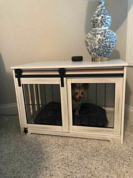 Farmhouse Dog Kennel Rustic Barn Bed