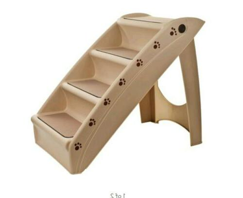 Petmaker Foldable Staircase Beige x 15.25w x