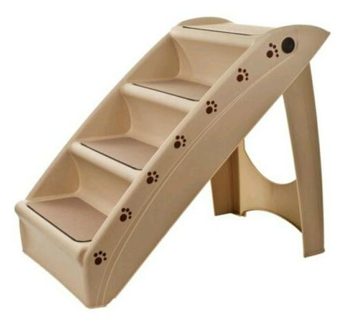 foldable dog staircase beige 22 63l x